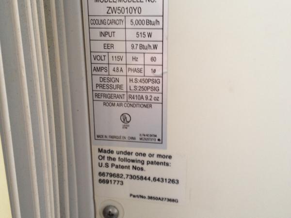 Window Air Conditioner: Zenith 5000 Btu Window Air Conditioner on