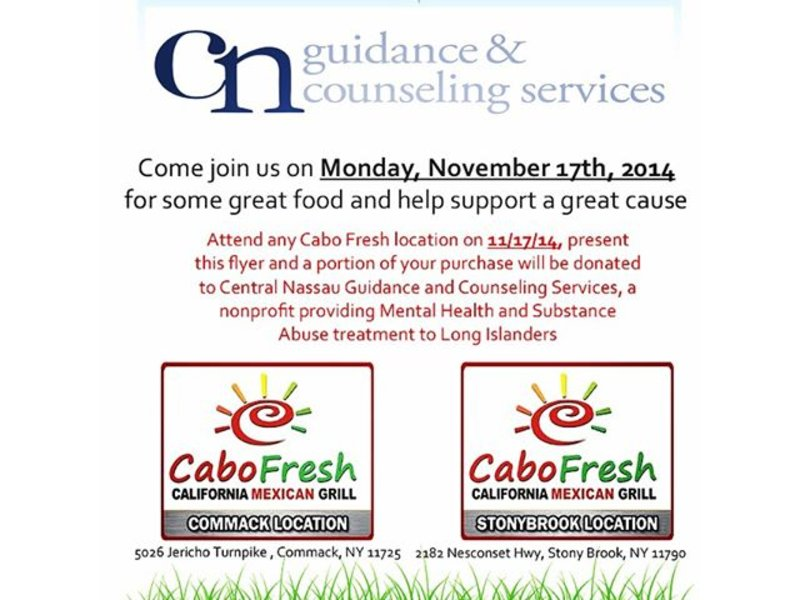 Come Join Us For Great Food At Cabo Fresh And Support A Great Cause