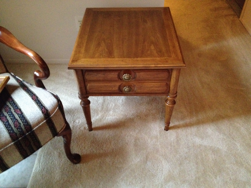 Elegant ... Estate Sale   Drexel Heritage   Rectangular End Tables (2)   Pecan  Wood  ...