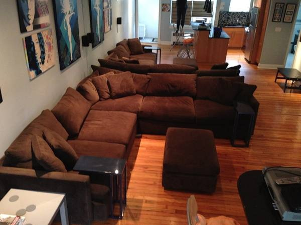 Great Crate Barrel Lounge Sectional Sofa For Huntington Ny Patch