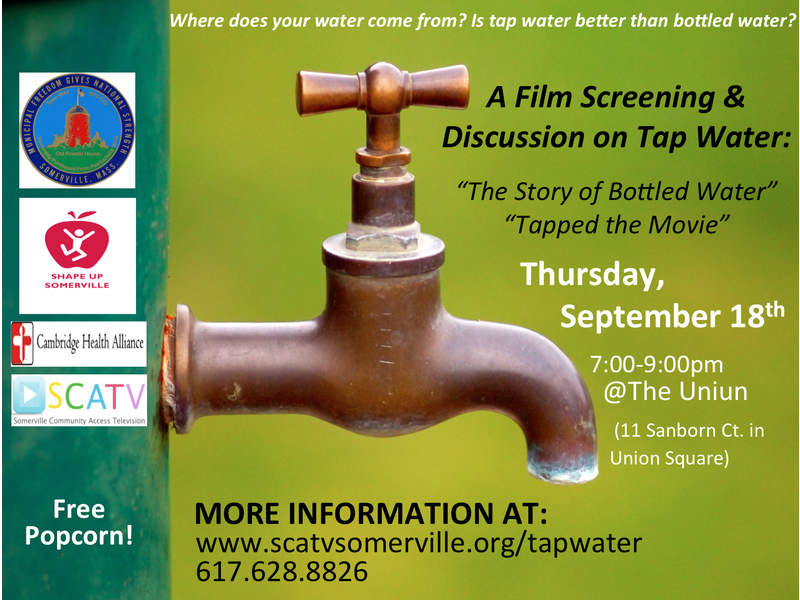 Tap Water 101: A Film Screening & Discussion | Somerville, MA Patch