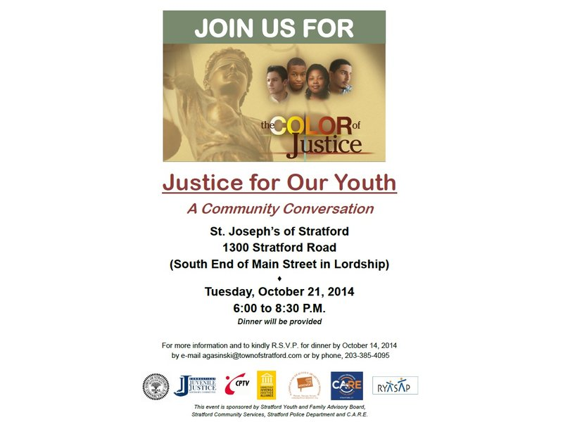 Color Of Justice A Community Conversation Coming To Stratford