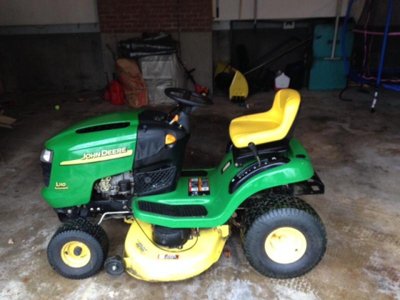 John Deere L110 For Sale Including Snow Plow Attachment Naugatuck