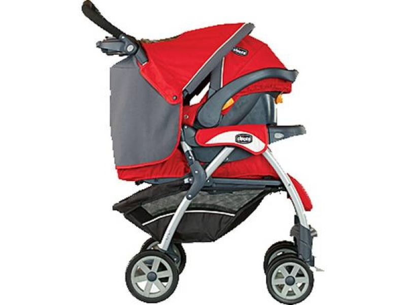 Baby Stroller Carseat And Base Chicco Red Gray 17500 Obo 0
