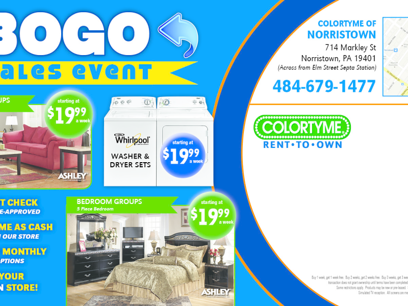 ColorTyme Rent To Own Furniture U0026 Electronics   Norristown, PA Patch