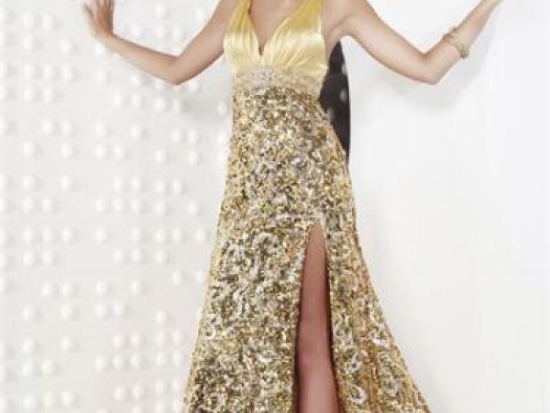 Riva Designs Gold Sequin Prom Dress $150 | Lemont, IL Patch