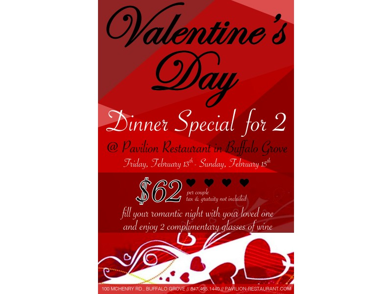 valentine s day dinner for 2 at pavilion restaurant bar in buffalo