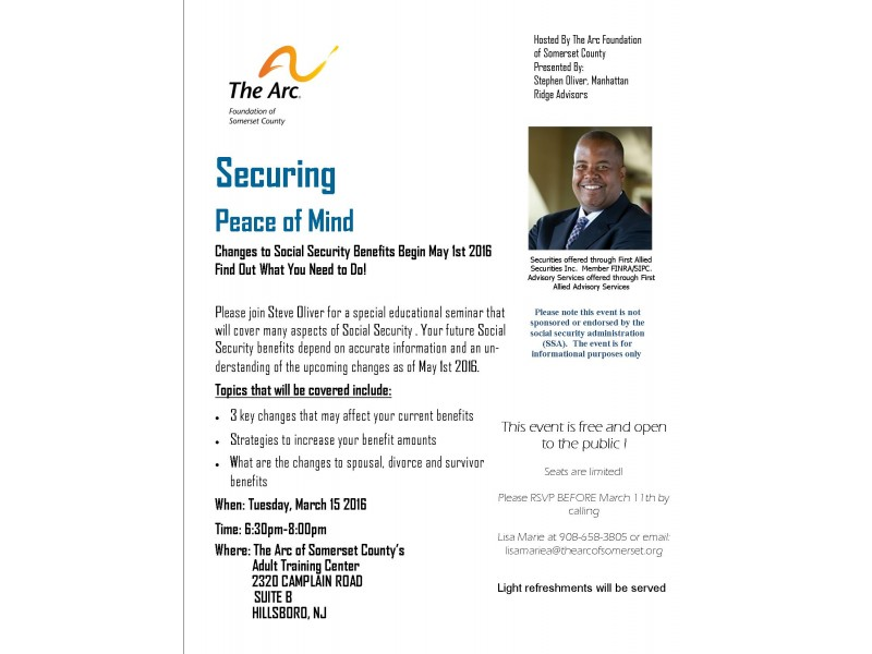 FREE Seminar About Social Security Changes
