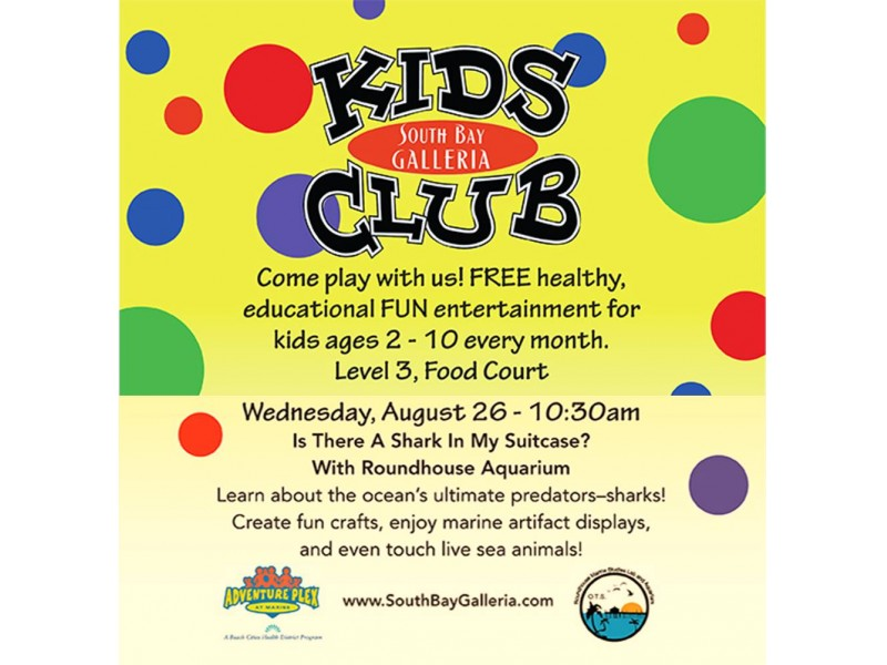 Kids are invited to join the south bay galleria kids club for a kids are invited to join the south bay galleria kids club for a fin tastic stopboris Image collections