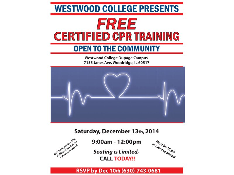 Free Cpr Certification Class At Westwood College Woodridge Il Patch