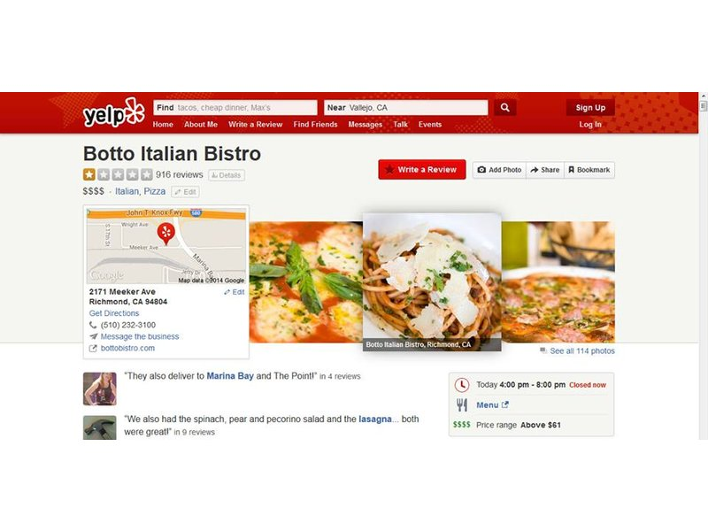 Bay Area Restaurant To Diners Hate Us On Yelp Please