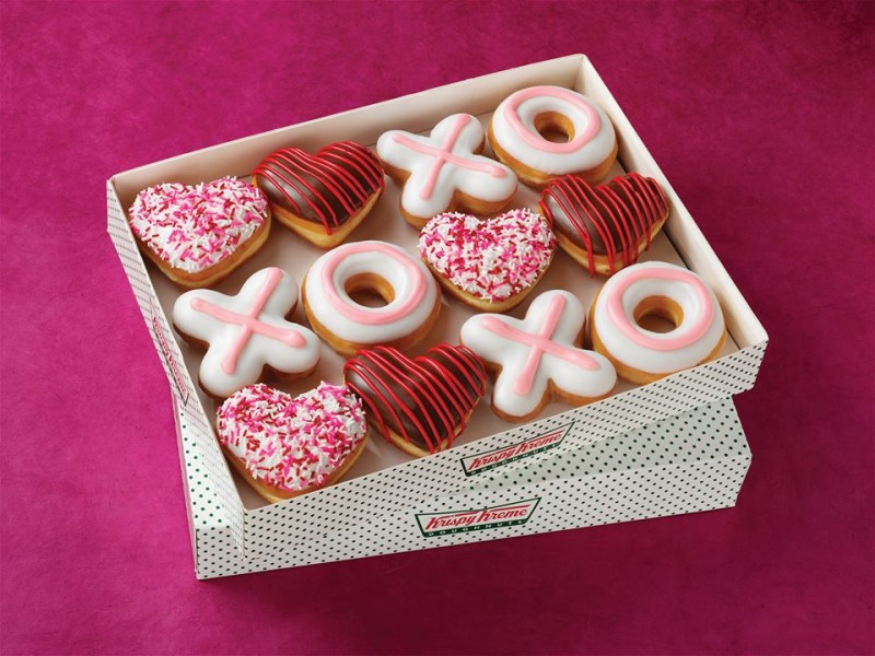 sweet  krispy kreme is aiming for your heart this