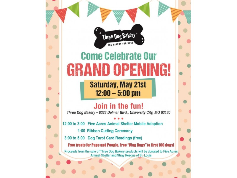 Three Dog Bakery Delmar Grand Opening Celebration St Charles Mo