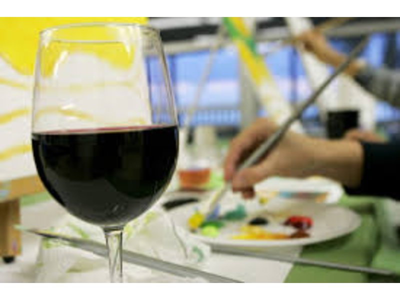 Wine and paint night two ten oyster bar narragansett ri for Wine paint party