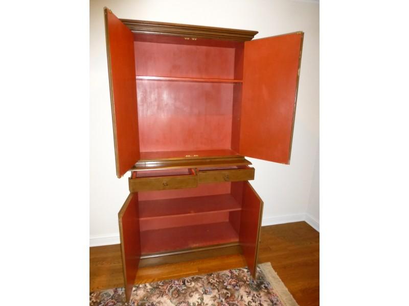 Trompe l oile handpainted italian cabinet hutch furniture