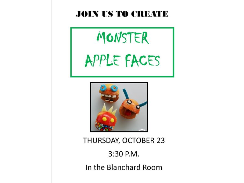 Monster Apple Faces At The Concord Public Library