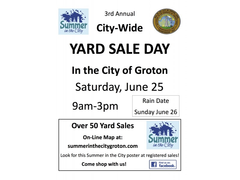 The City Of Groton Invites You To A CommunityWide Yard Sale Day - Us 25 yard sale map