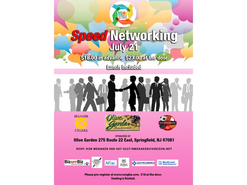 Captivating Tuesday, July 21st  Speed Networking In Springfield, NJ!   Newark, NJ Patch