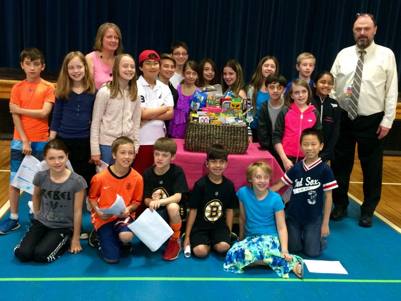 FOURTH GRADE CLASSROOM IN WESTFORD, MA RAISING MONEY FOR SPAULDING  REHABILITATION HOSPITAL TO HONOR FORMER