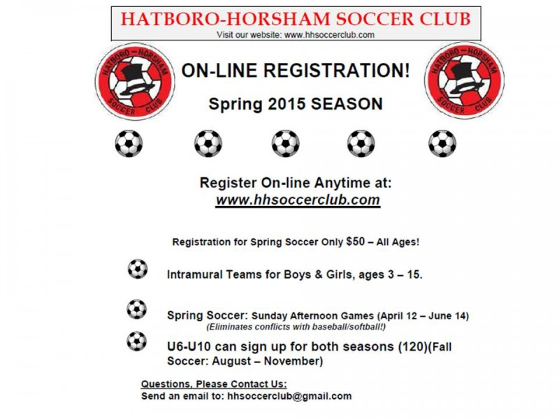 Hatboro-Horsham Soccer Club Registration Open | Hatboro ...