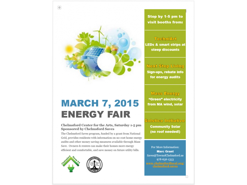 Home Energy Fair at the Chelmsford Center for the Arts
