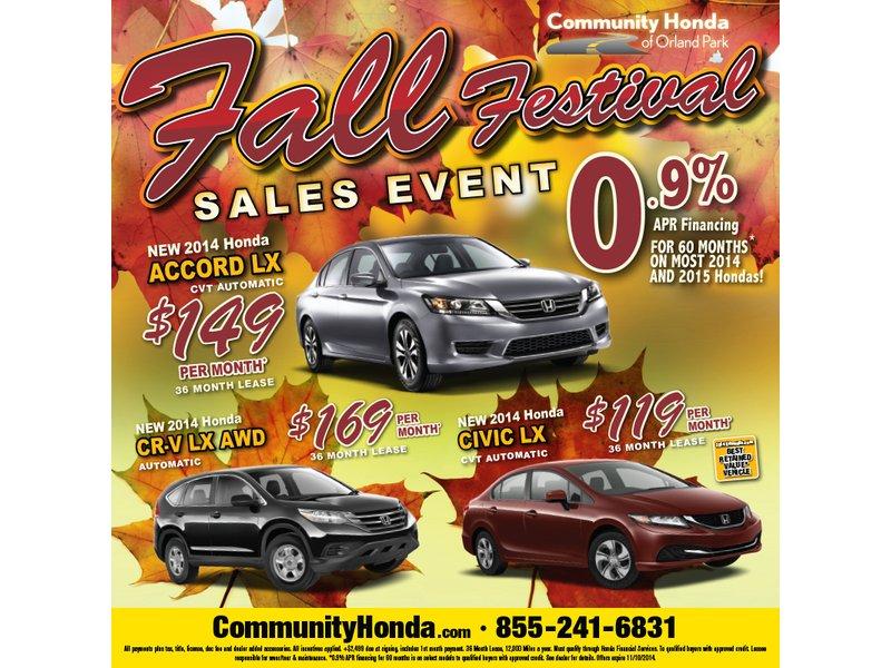 Community Hondau0027s Fall Festival Sales Event!