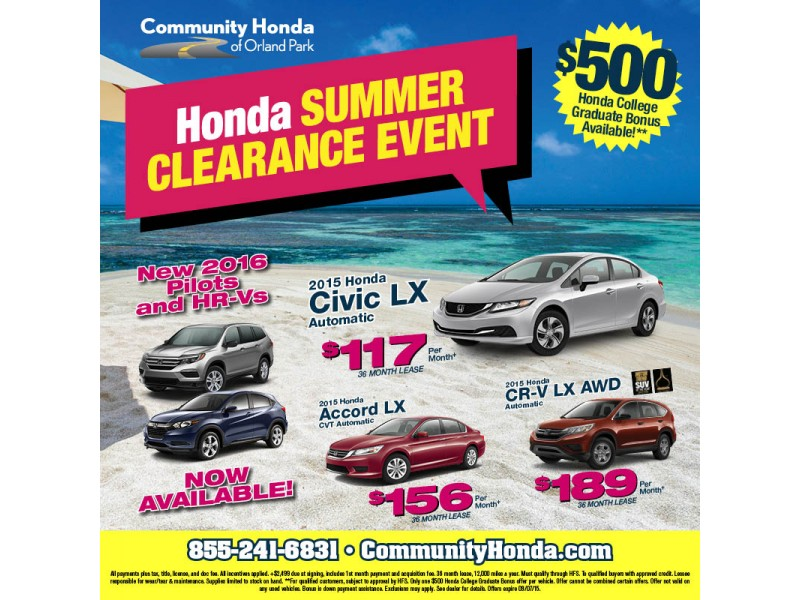 Honda 39 s summer clearance event orland park il patch for Honda orland park