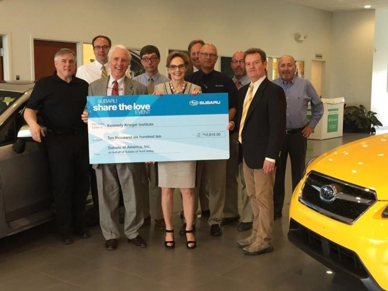 Subaru Of Hunt Valley And Valley Motors Donate To Kennedy - Subaru valley motors