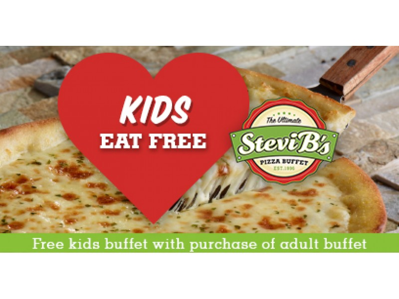 kids eat free at stevi b s pizza buffet now through valentine s day rh patch com Snappy Tomato Pizza Buffet Coupons Cici's Pizza Coupons April 2012