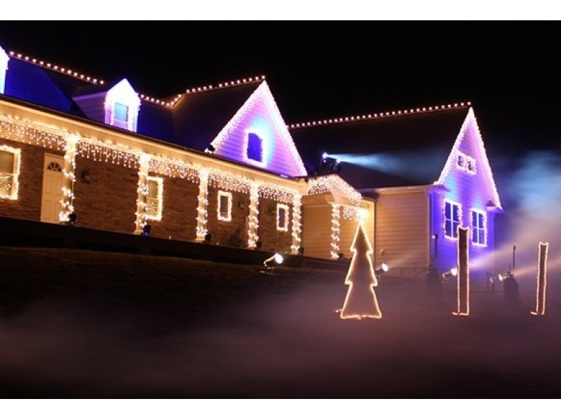 WATCH: Wall Holiday Lights Display A Science Professor s Dream Wall, NJ Patch