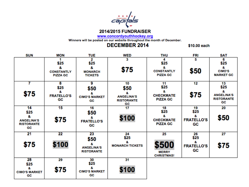 the annual 2014 cyha fundraiser calendar is back concord nh patch. Black Bedroom Furniture Sets. Home Design Ideas