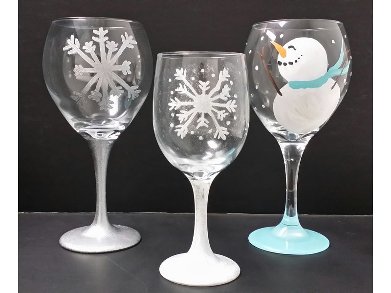 Paint Party Nh Now Offers Wine Glass Ornament Painting Windham