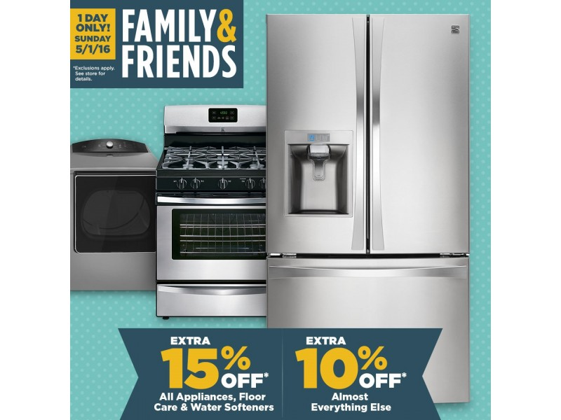 HUGE Appliance Sale Sunday May 1st at Sears in Turnersville ...