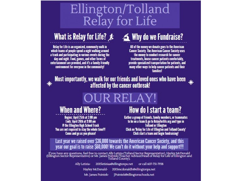 Ellingtontolland county relay for life registration still open ellingtontolland county relay for life registration still open stopboris Gallery
