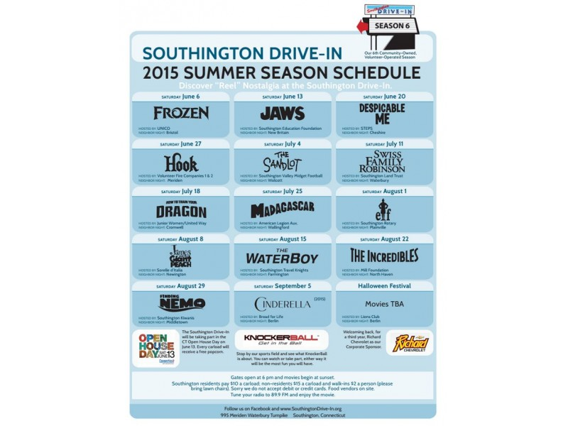 Southington drive in movie times