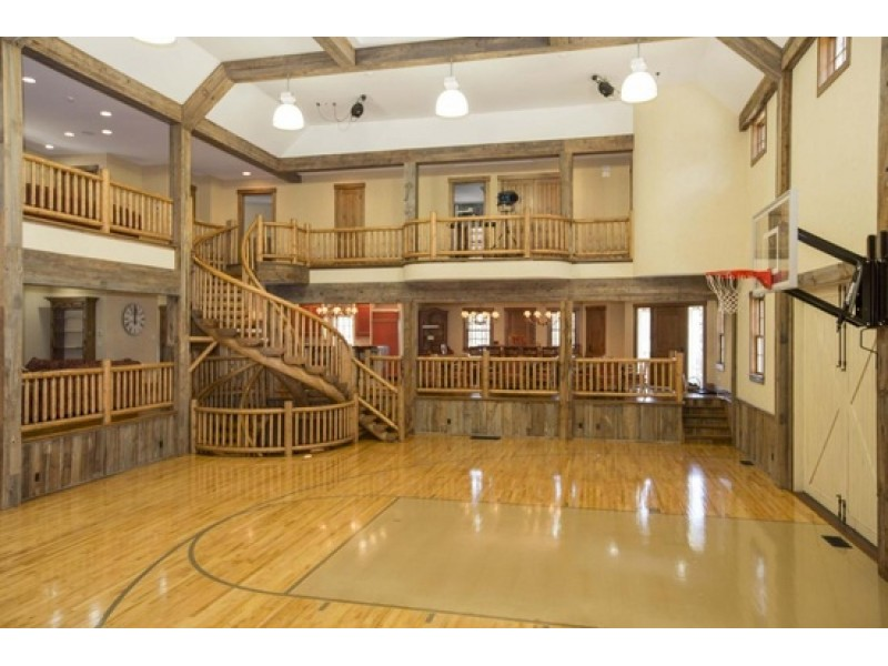 New canaan wow house basketball court thx movie theater for How much is an indoor basketball court