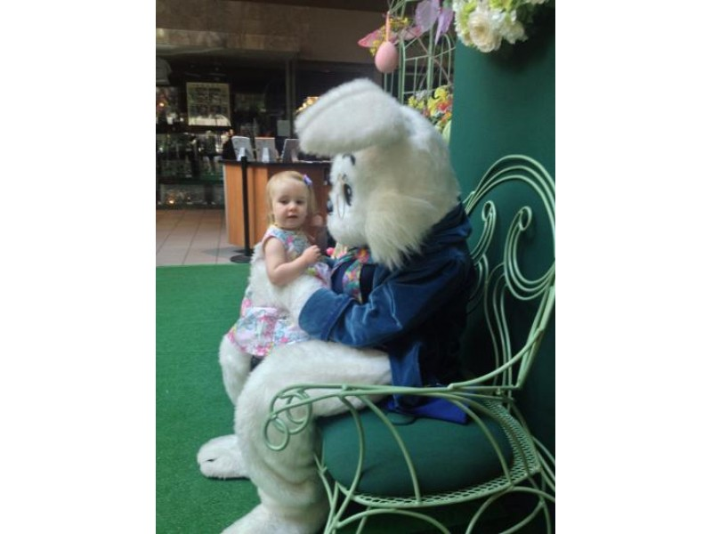 The easter bunny hops into spring at emerald square mall for What is the easter bunny s phone number