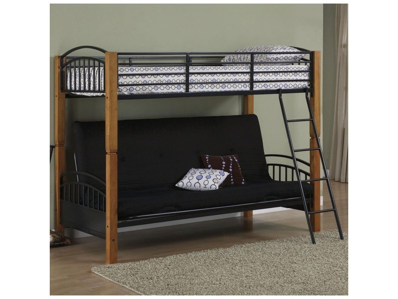 Futon Bunk Bed Includes Deluxe Mattress Perry