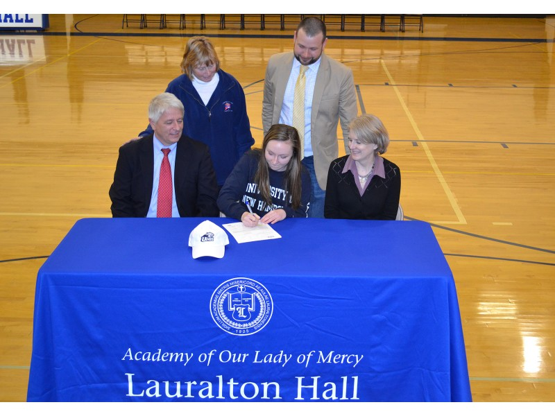 National Letter Of Intent Signing At Lauralton Hall  Milford Ct Patch