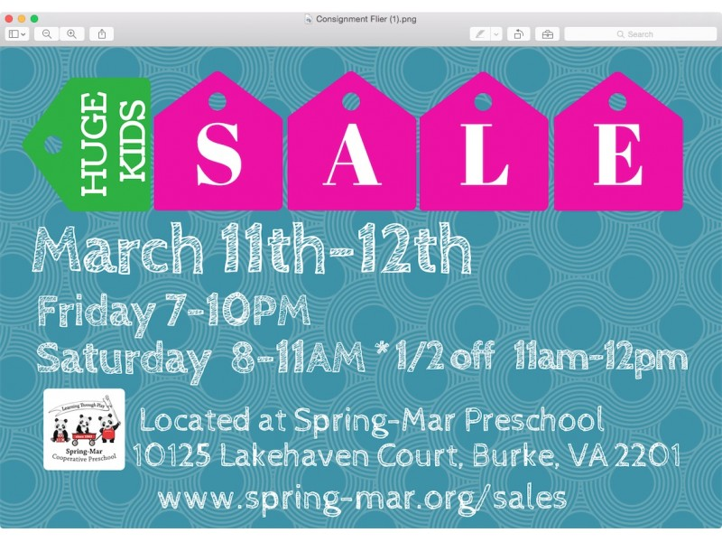 spring mar cooperative preschool mar cooperative preschool consignment 885