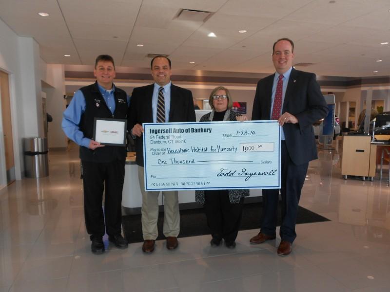 Ingersoll Auto of Danbury, CT donates to Housatonic ...