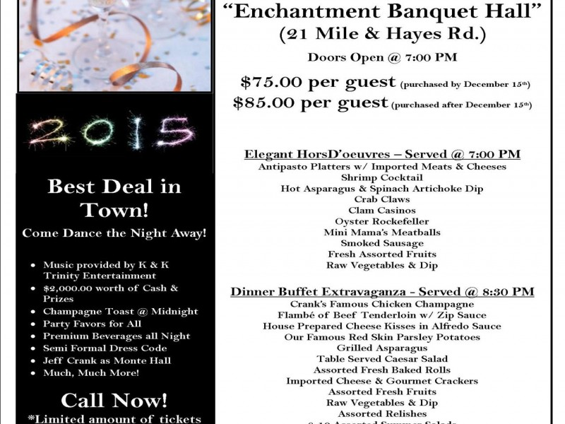 Crank\'s New Years Eve Bash | Shelby, MI Patch