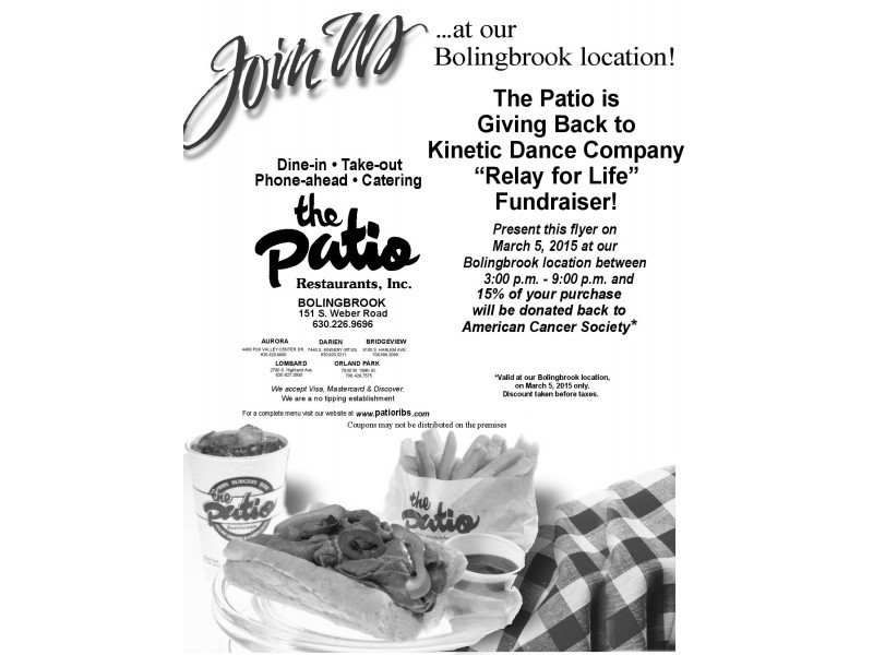 Eat At The Patio, Raise Money For The American Cancer Society | Bolingbrook,  IL Patch