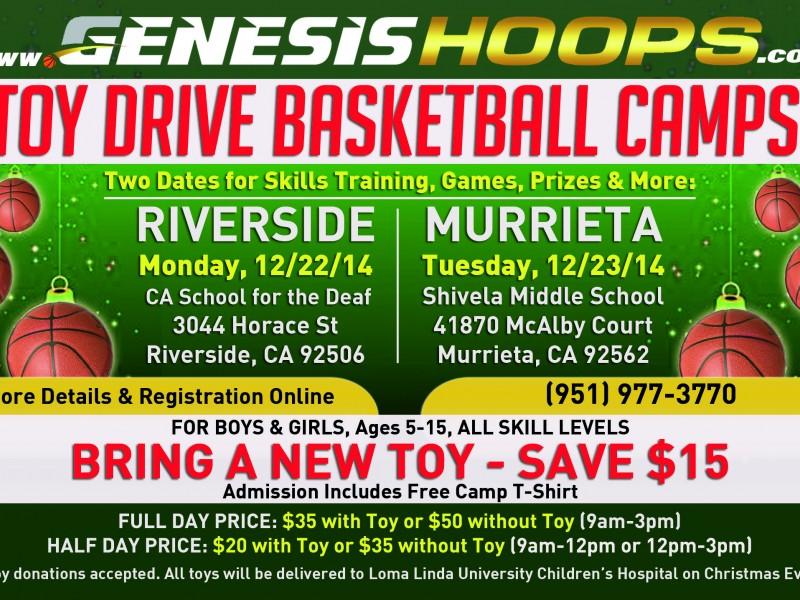 Murrieta/Riverside Holiday Toy Drive Basketball Camps: | Murrieta, CA Patch