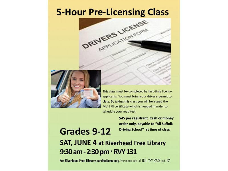 5 Hour Pre Licensing Class Riverhead Ny Patch