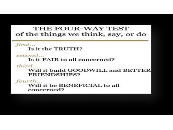 Rotary four way test essay   report    web fc  com RGHF Rotary international four way test essay contest