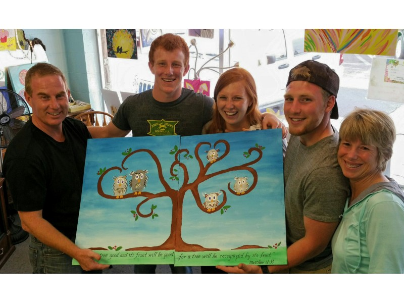 quality family fun together an art project that you paint together in cary algonquin il patch - Fun Pictures To Paint
