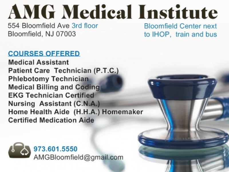Amg Medical Institute Opens Its Third Location In Bloomfield Nj
