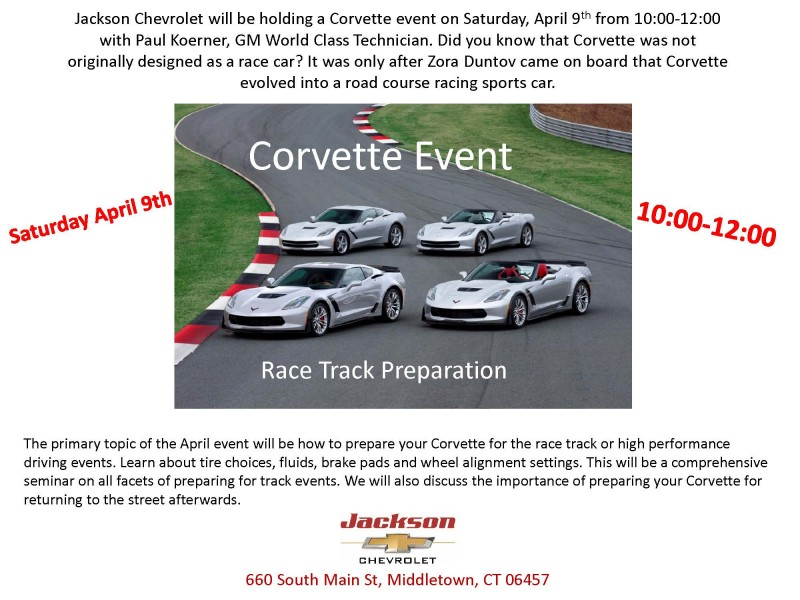 Corvette Event Taking Place In Middletown This April. Jackson Chevrolet ...