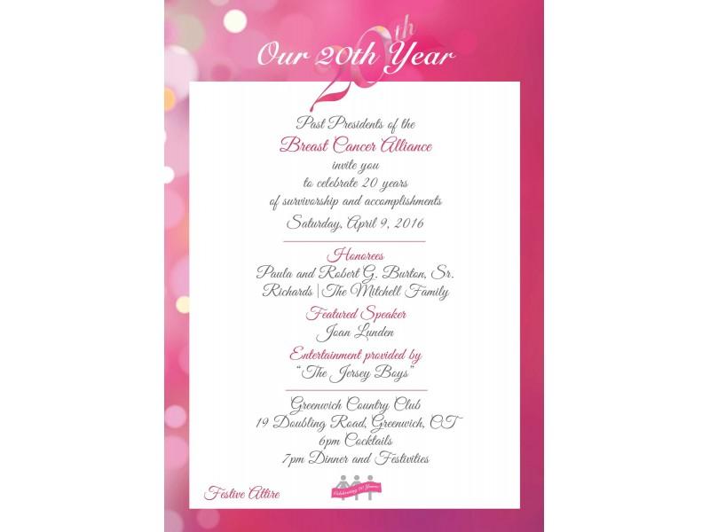 Breast Cancer Alliance Celebrates 20th Anniversary | Fairfield, CT ...